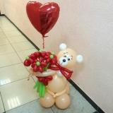 мишка из шаров сердце стерлитамак 14 февраля шарики на день влюбленных стерлитамак