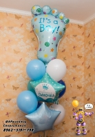 шары на выписку из роддома Стерлитамак, гелиевые шары в Стерлитамаке. Ножка воздушные шары недорого Стерлитамак доставка шаров