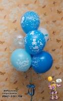 на выписку для мальчика нежный сет, гелевые шары стерлитамак, шары стерлитамак, шарминатор, шары на выписку в Стерлитамаке заказать