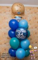 малыш шары на выписку из роддома Стерлитамак, гелиевые шары в Стерлитамаке. Ножка воздушные шары недорого Стерлитамак доставка шаров
