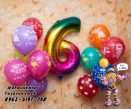 Сет  на шестилетие  шары от ШАРминатора. Геливые  шары стерлитамак, гелевые шары стерлитамак доставка, гелиевые шары стерлитамак ШАрминатор