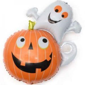 привидение с тыквой хэллоуин шары, хэллоуин стерлитама оформление праздника хэллоуин, шары у шарминатора, шары стерлитамак, доставка шаров стерлитамак, гелиевые шары стерлитамак helloween