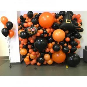 фон для фотосессий из шаров  хэллоуин шары, хэллоуин стерлитама оформление праздника хэллоуин, шары у шарминатора, шары стерлитамак, доставка шаров стерлитамак, гелиевые шары стерлитамак helloween