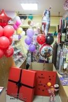 Шары красная Леди Баг  коробка с шарами стерлитамак, заказать коробку-сюрприз с шарами внутри в Стерлитамаке, коробка с шариками Стерлитамак, Шарминатор, доставка шаров Стерлитамак, гелиевые шары с доставкой Стерлитамак, телефон доставки шаров Артёма Арбат