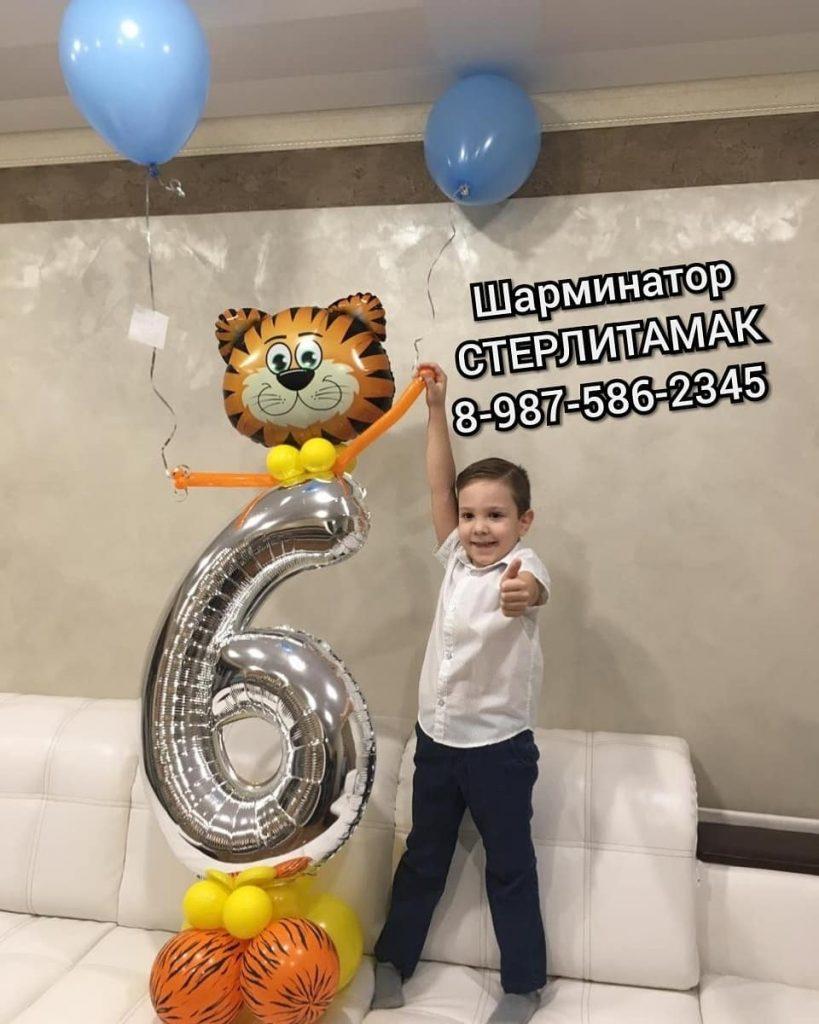 тигр и цифра из шаров Стерлитамак