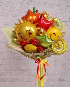 сыну букет из шаров в крафтовой бумаге шары от Шарминатора в Стерлитамака шары Стерлитамак доставка шаров Стерлитамак