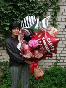 учителю букет из шаров в крафтовой бумаге шары от Шарминатора в Стерлитамака шары Стерлитамак доставка шаров Стерлитамак