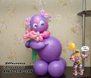 Фигура из шаров лунтик звезда или сердце с индивидуальной надписью стерлитамак заказать шары гелевые стерлитамак balloons baloons